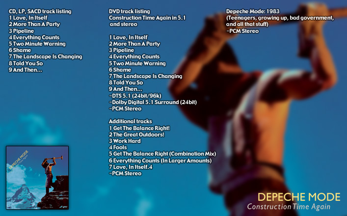 depeche mode - construction time again - remastered