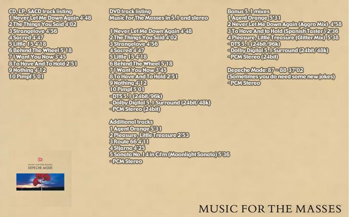 depeche mode - music for the masses - remastered